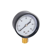 "Picture of Vacuum Gauge 30-0 inHg 2"" Bottom Mount"