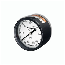 "Picture of Pressure Gauge 0-60 PSI 2"" Back Mount"